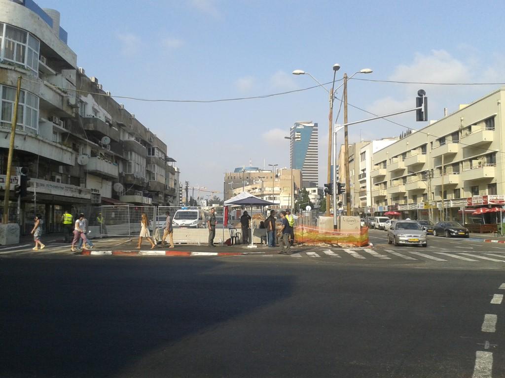 המחשה מכיוון אחר, תמונה מפינת לאנבי לכיוון מזרח' (עדיין מקווה ישראל)